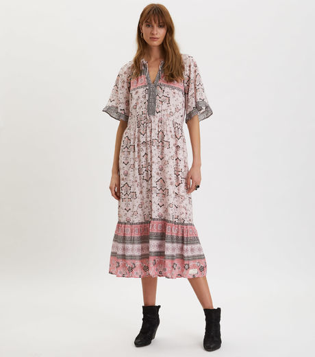 Odd Molly Bohemic Dress Pink Elder