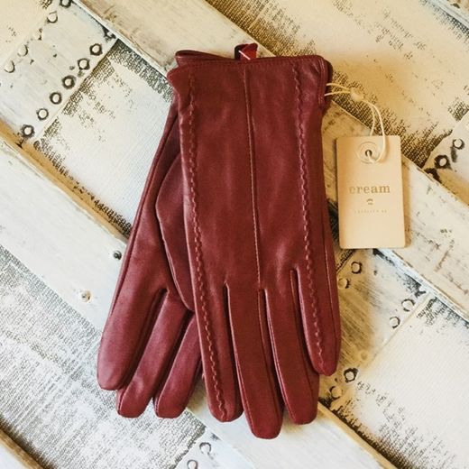 Cream nahkasormikkaat Anella Gloves American Red