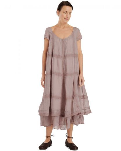 Ewa i Walla dress organza Dust Pink