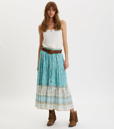Odd Molly Bohemic Skirt Moroccan Turquoise