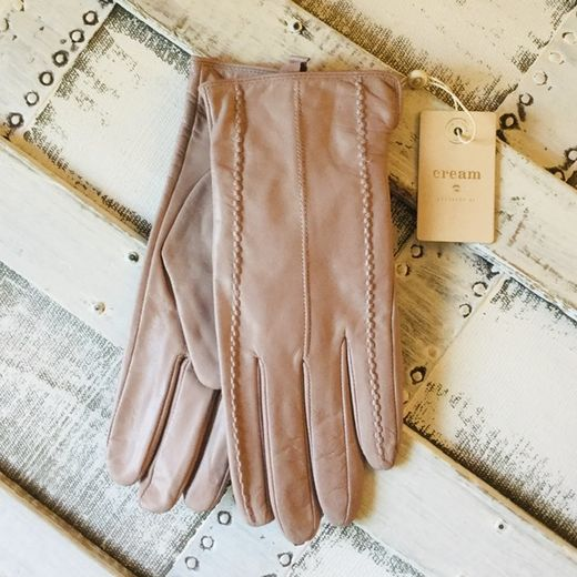 Cream nahkasormikkaat Anella Gloves Dusty Rose