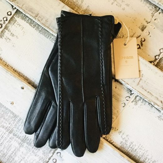 Cream nahkasormikkaat Anella Gloves Pitch Black