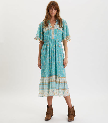 Odd Molly Bohemic Dress Moroccan Turquoise