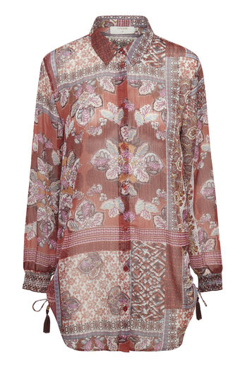 Cream pusero GustaCR shirt Etruscan Red Patc