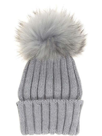 Natures Collection Sheila Beanie Light Grey