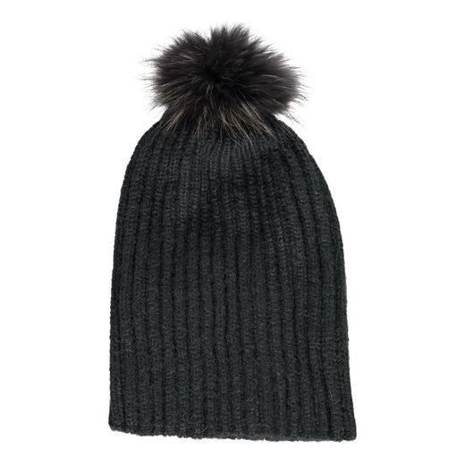 Natures Collection Simone Beanie Dark Grey