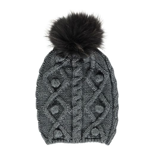 Natures Collection Stephanie Pom-Pom Dark Grey