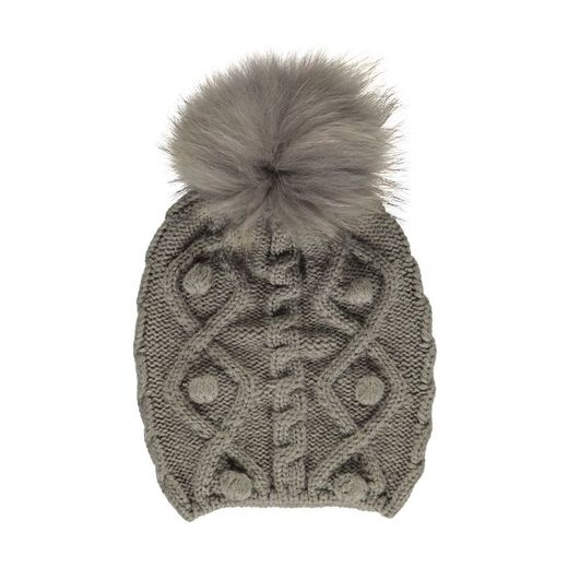 Natures Collection Stephanie Pom-Pom Pearl Grey