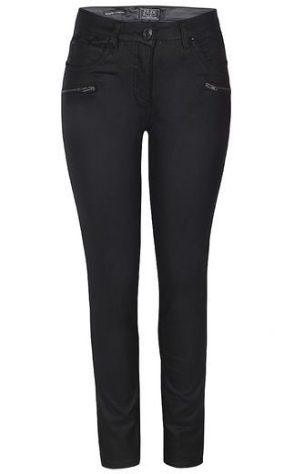 Ze-Ze housut Sanne Pants Coated Twill Black